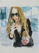 Enoc Perez, Untitled (Lindsay Lohan)