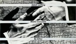 Barbara Kruger, Untitled (Admit nothing blame everyone be bitter), 1988