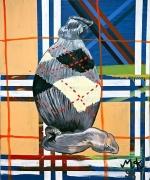Martin Kippenberger, Egg Sock, 1996oil on canvas35 1/8 x 29 1/4 inches (89.2 x 74.3 cm)