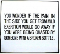 Jenny Holzer, Living Series: You wonder if the pain in the side..., 1981