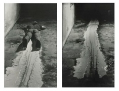 Paul McCarthy Face Painting - Floor, White Line, 1972