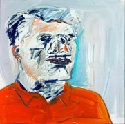 Albert Oehlen  Ich seh Dich II (Selbsportrait: Dreiauge), 1983