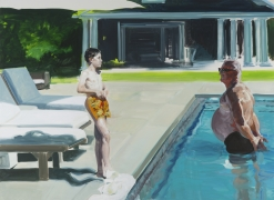 Eric Fischl, Face Off, 2017