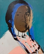 Andy Warhol, The American Indian (Russell Means), 1976.