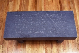 Jenny Holzer, Under a Rock: People go to the river..., 1986