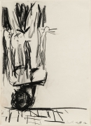 Georg Baselitz Untitled (The Last Self-Portrait I), 1982 charcoal and pastel on paper