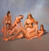 George Condo, Interacting Figures, 2004