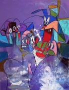 Comic Relief, 2011Acrylic, charcoal, pastel on linen65 x 50 inches