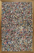 Mike Kelley, Memory Ware Flat #2, 2000paper, pulp, tile grout, acrylic, miscellaneous beads, button on wooden panel70 1/2 x …