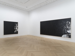 Installation View George Condo 2019 The Black Paintings