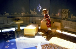Laurie Simmons  New Bathroom/Woman Standing/Sunlight, 1979