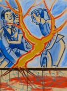 David Salle Untitled 2020 acrylic and oil on paper