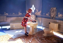 Laurie Simmons  First Bathroom/Woman Standing, 1978