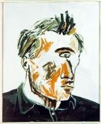 Albert Oehlen Ich seh Dich I (Self portrait: Einauge), 1983