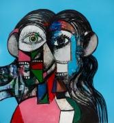 George Condo, Prismatic Head Composition, 2019