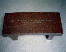 Jenny Holzer, Survival: You are caught thinking..., 1989