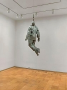 """Juan Munoz, Hanging Figure, 1997resin and cable, 63"""" x 34"""" x 28"""""""