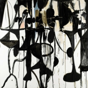 George Condo, Black and White Abstract Painting