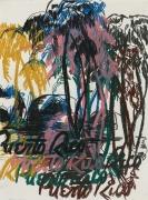 Enoc Perez, Untitled (black-pink-brown)