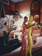 Laurie Simmons, Coral Living Room with Lillies, 1983