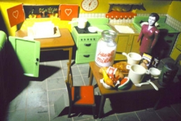 Laurie Simmons Purple Woman/Kitchen/Corner, 1978