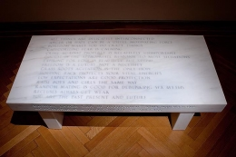 Jenny Holzer, Truisms: All things are delicately interconnected..., 1987