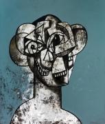 George Condo  Monolithic Head Composition, 2018
