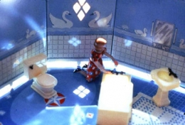 Laurie Simmons  New Bathroom/Woman Kneeling/Second View, 1979