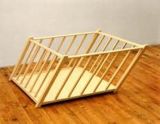 Robert Gober Tilted Playpen, 1987
