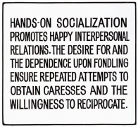 Jenny Holzer, Living Series: Hands-on socialization promotes..., 1981