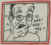 Keith Haring, Untitled (Hee Hee Hee), 1985