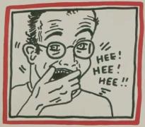 Keith Haring, Untitled (Hee Hee Hee), 1985