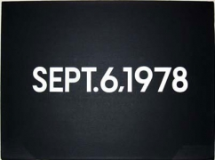 "On Kawara, September 6, 1978., ""Today"" Series No.26, 1978"