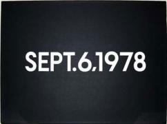 """On Kawara, September 6, 1978., """"Today"""" Series No.26, 1978"""