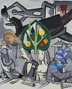 David Salle, New Years Party