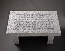 Jenny Holzer  Living Series: Affluent college-bound students..., 1989