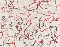 Sue Williams  Black and White and Red All Over, 1998