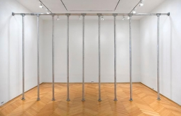 Cady NolandDead Space, 1989Mixed media scaffolding pipes, 120 x 5 1/2 x 216 inches