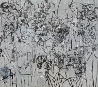 George Condo  Political Cartoon Abstraction, 2017