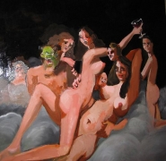 George Condo, Nocturnal Figure Composition, 2004