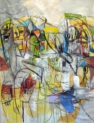 Internal Voices, 2011Acrylic, charcoal, pastel on linen65 x 50 inches