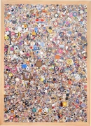 Mike Kelley, Memory Ware Flat No. 10, 2001mixed media and synthetic resin on wooden panel85 x 61 x 7 inches (215.9 x 154.9 x…