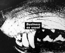 Barbara Kruger Untitled (Business as usual), 1987