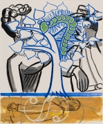 David Salle  Untitled  2020  ink, acrylic and oil bar on paper