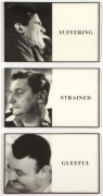 John Baldessari, Prima Facie: Suffering/ Strained/ Gleeful,