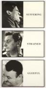 John Baldessari, Prima Facie: Suffering/ Strained/ Gleeful,