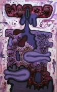 Carroll Dunham, Untitled (purple), 1993-94
