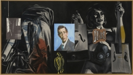 David Salle Blue Face, 1988