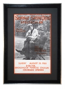 Vintage Everly Brothers 1966 poster, Broadmoor Hotel, CO, Every Brothers Summer Swing Ding Spectacular poster August 28, 1966