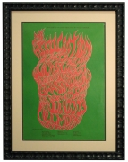 BG-18 Flame lettering poster by Wes Wilson from July 1966 for The Association, Quicksilver, the Grass Roots and Sopwith Camel at the Fillmore